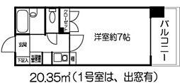 ドミール北新宿[404号室]の間取り