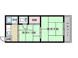 栄孝ハイツ[3階]の間取り
