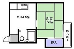 シャトル箱崎[203号室]の間取り