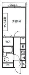 東京都武蔵村山市大南5丁目の賃貸マンションの間取り