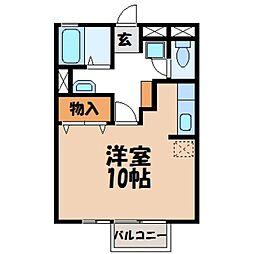 カーサユーカリA[1階]の間取り