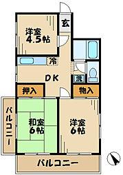東京都多摩市諏訪4丁目の賃貸マンションの間取り