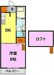 ペントハウス[2階]の間取り