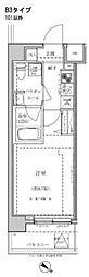 東武東上線 東武練馬駅 徒歩10分の賃貸マンション 5階1Kの間取り