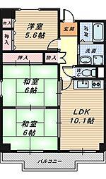 ポルト堺II[2階]の間取り