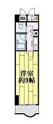 神奈川県川崎市川崎区東田町の賃貸マンションの間取り