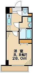 東京都日野市平山5丁目の賃貸マンションの間取り