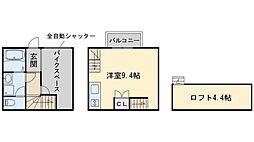 ギャラリークラッセ次郎丸 1階ワンルームの間取り