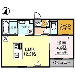 ルナピエーナ A棟 3階1LDKの間取り
