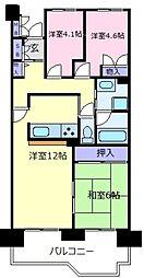 朝日プラザ南大阪ターミナルシティ[3階]の間取り