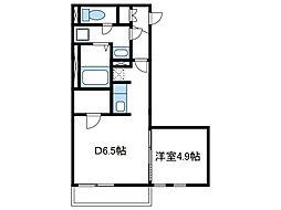 神奈川県綾瀬市深谷中3丁目の賃貸アパートの間取り