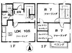 [テラスハウス] 神奈川県横浜市泉区桂坂 の賃貸【/】の間取り