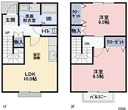 長野県千曲市大字磯部の賃貸アパートの間取り