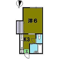 堀越アパート[2階]の間取り