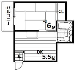 第一ハイツ[1階]の間取り
