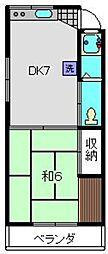 北村アパート[202号室]の間取り