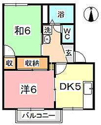 フレグランス神田[202号室]の間取り