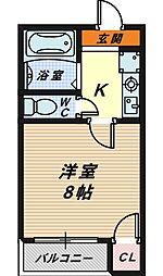 リバティ堺6号館[5階]の間取り