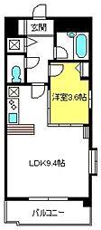 ディアコート六番館[305号室]の間取り