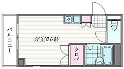 パティオ箱崎[305号室]の間取り