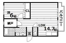 ユメノサニーハイツ[4階]の間取り