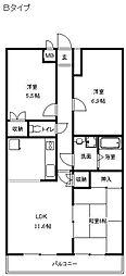 神奈川県平塚市御殿3丁目の賃貸マンションの間取り
