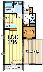 西武国分寺線 恋ヶ窪駅 徒歩11分の賃貸アパート 1階1SLDKの間取り