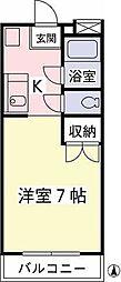 東京都日野市万願寺6丁目の賃貸マンションの間取り