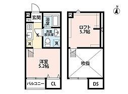 Ao Hauoli 大宮(アオ ハウオリ オオミヤ)[1階]の間取り