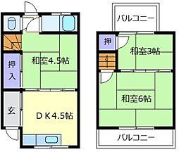 [テラスハウス] 大阪府松原市高見の里5丁目 の賃貸【/】の間取り