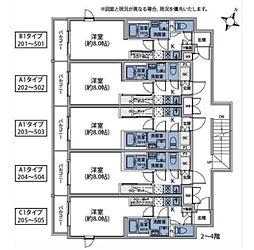東急目黒線 不動前駅 徒歩6分の賃貸マンション 1階1Kの間取り