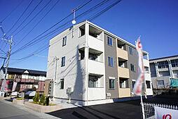 栃木県小山市東城南1丁目の賃貸アパートの外観