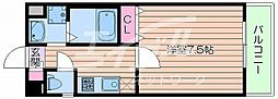 JR東海道・山陽本線 吹田駅 徒歩4分の賃貸マンション 8階1Kの間取り