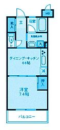 神奈川県川崎市多摩区中野島6丁目の賃貸マンションの間取り