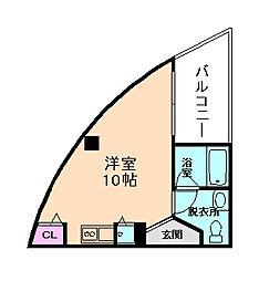 パークフロント北梅田[9階]の間取り