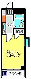 神奈川県川崎市中原区木月伊勢町の賃貸マンションの間取り