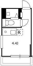 PROTO Shibuyashinsen II 地下1階ワンルームの間取り