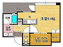 アクタス大手門II[6階]の間取り