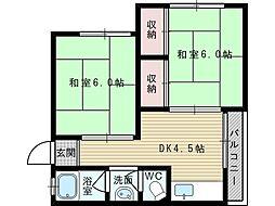 行澤文化[2階]の間取り