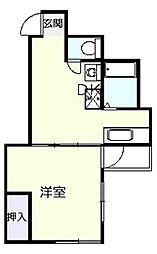 第1KIビル[4階]の間取り