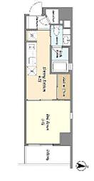 JR総武線 亀戸駅 徒歩7分の賃貸マンション 8階1DKの間取り