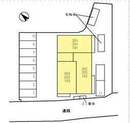 仮称)D-Room群津[3階]の外観