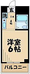 東京都多摩市諏訪3丁目の賃貸マンションの間取り