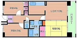 UR都島リバーシティ1号棟[4階]の間取り