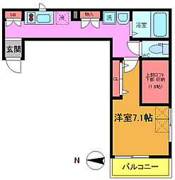千葉県浦安市当代島2丁目の賃貸アパートの間取り