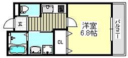 JR東海道・山陽本線 茨木駅 徒歩12分の賃貸アパート 3階1Kの間取り
