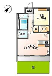 道野辺中央4丁目新築マンション[1階]の間取り