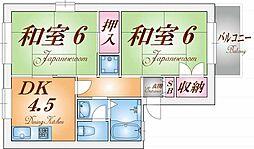 トラスト神戸[1階]の間取り