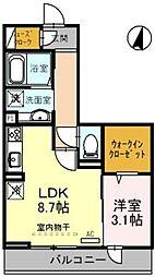 (仮)上落合PJ 2階1LDKの間取り