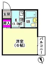 ふじハイツ[202号室]の間取り